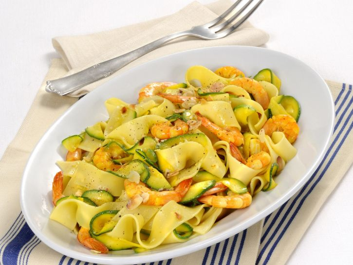 pasta gamberi e zucchine